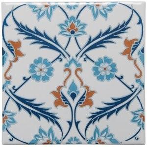 Tegelgalerie - Winchester Tiles - Artisan - Topkapi Red On Helmingham