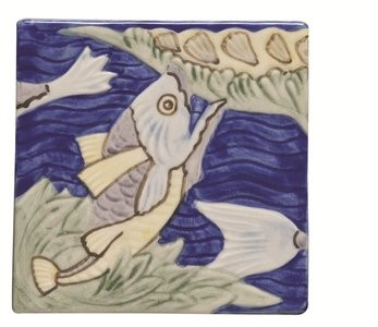 Tegelgalerie - Winchester Tiles - Classic - Fish Frieze 3 Multi colour