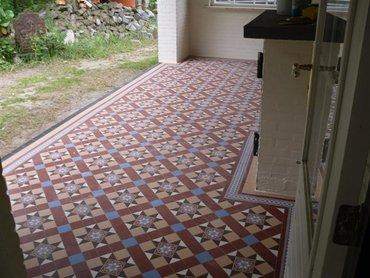 Victorian floortiles, geleverd en aangebracht, De Heen
