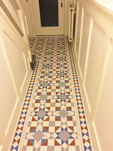 ......en het resultaat - Victorian Floortiles (Eltham patroon)