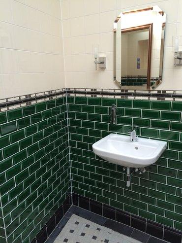 Betegelde toiletgroep Vrijmetselarij, Bergen op Zoom