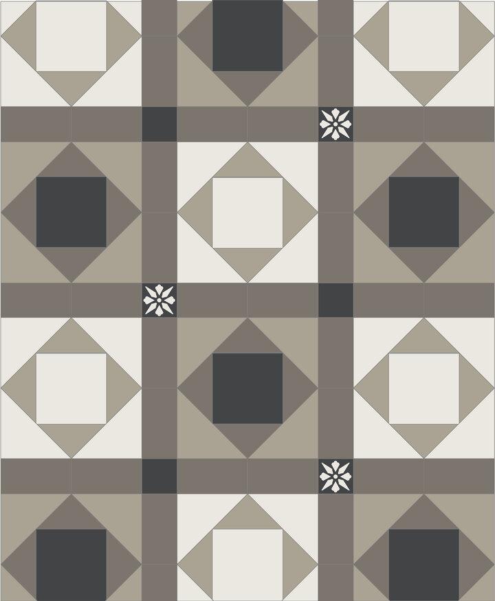 TG001 | Prijsindicatie patroon 89,00 p/m2 | border 135,00 p/m1
