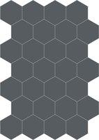 Bisazza cementtegel Hexagon Asfalto E 200 x 230
