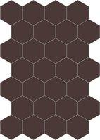 Bisazza cementtegel Hexagon Cioccolato E 200 x 230