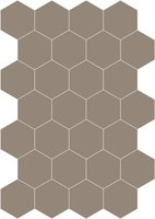 Bisazza cementtegel Hexagon Ecru E 200 x 230