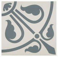 8073V Phoenician Denim on Dover White 151 x 151