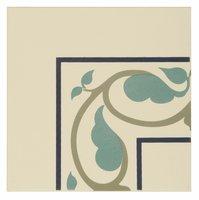 8082V Moroccan Internal Corners Dublin, Dark Blue and Dark Jade on White 151 x 151