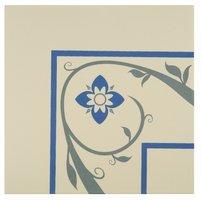 8035V Saxon Corners Denim and Blue on White 151 x 151