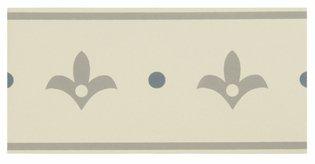 8066V Indo Borders Light Grey and Light Blue on White 151 x 75