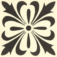 Cardigan 53 x 53 (Black on Dover White)
