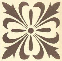 Cardigan 53 x 53 (Dark Brown on White)
