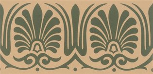 Faraday 151 x 75 (Border, Green on Buff)