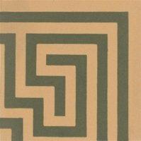 Greek Key 53 x 53 (Corner, Green on Buff)