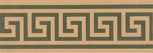 Greek Key 151 x 53 (Border, Green on Buff)