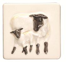 A La Ferme Ewe and Lamb 100 x 100