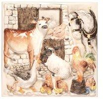 A La Ferme Farmyard Plaque 300 x 300