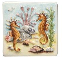 Coral Reef Seahorses 100 x 100