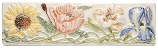 Bouquet De Fleurs Sunflower to Irises Border 200 x 60