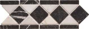 Athenian Diamond Black Mosaic 300 x 100
