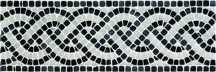 Athenian Rope Black Mosaic 300 x 100