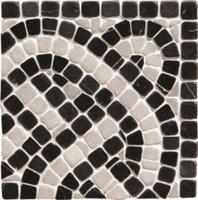 Athenian Rope Black Corner Mosaic 100 x 100