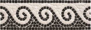 Athenian Scroll Black Mosaic 300 x 100