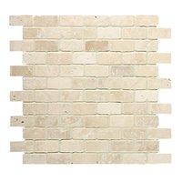 Brickbond Crema Tumbled Mosaic 305 x 305