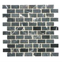 Brickbond Nero Tumbled Mosaic 305 x 305