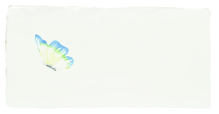 Azure Angel Half Tile Pastel on Papyrus 130 x 63