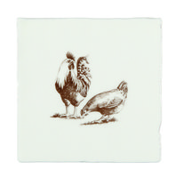 Brood of Chickens on Papyrus 130 x 130