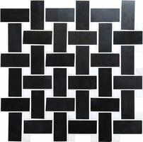 Basketweave black with white dot Mosaic 290 x 290