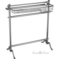 Free Standing Double Towel Rail With Basket