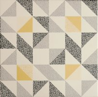 8732 Saltram Yellow & Black On Chalk 298 x 298