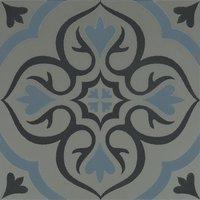 8737 Knightshayes Dark & Light Blue On Grey 298 x 298