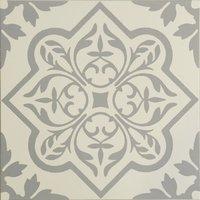 8738 Pentillie Light Grey On Chalk 298 x 298