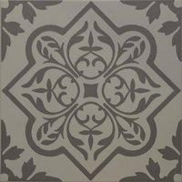 8739 Pentillie Dark Grey On Grey 298 x 298