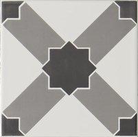 Chambray Grey on Brilliant white 152 x 152
