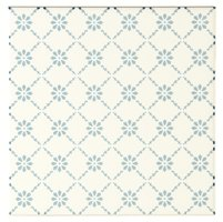Floral Trellis Blue on Brilliant White 152 x 152