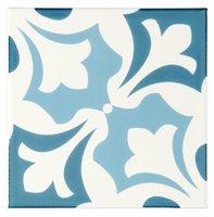 Josette Blue Blue on Brilliant White 152 x 152