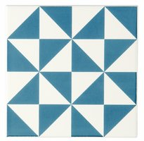 St Malo Blue on Brilliant White 152 x 152