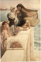 Alma-Tadema: At Aphrodite's Cradle (1908) Multi colour 560 x 380