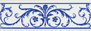 Acanthus Royal Blue Royal Blue 152 x 50