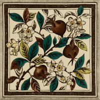 Apple Blossom Multi Colour on Colonial White 152 x 152