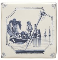 English Delft Fisherman 127 x 127