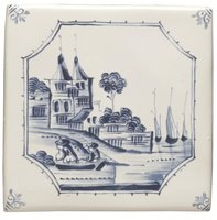 English Delft Waterfront 127 x 127