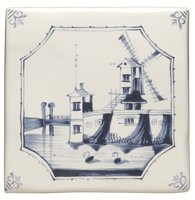 English Delft Windmill  127 x 127