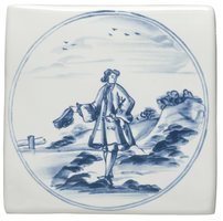 English Delft Man with Hat  127 x 127
