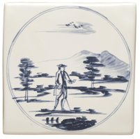 English Delft Man with Stick 127 x 127