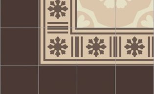 Bisazza border cementtegel Square Blizzard Arachide 200 x 200