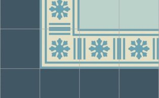 Bisazza border cementtegel Square Blizzard Greco 200 x 200